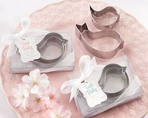 Tweet Baby Mamma and Baby Bird Cookie Cutter Set Baby Shower Favors
