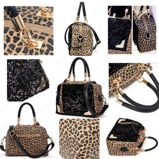 Tote/Shoulder Hand Bag Lady Leopard Fashion Style Paillette Bags C
