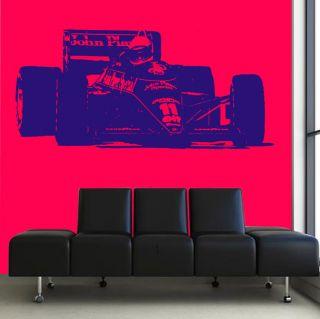 HUGE F1 WORLD CHAMPION AYRTON SENNA Wall Sticker Art Transfer Graphic