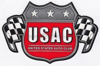 USAC 6 inch official racing decal sticker B D289