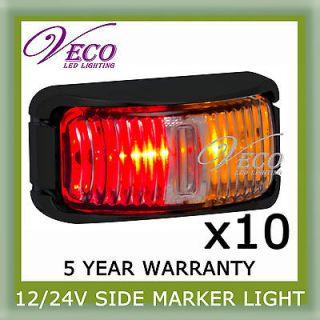10 LED 12V 24V MARKER LIGHT SUBMERSIBLE CLEARANCE LAMP TRAILER BUS