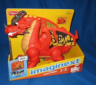 FISHER PRICE IMAGINEXT EAGLE TALON CASTLE DRAGON WITH DVD NEW