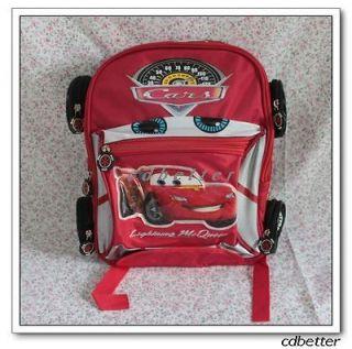 Kids Boys Disney Pixar Cars Shape School Bags Backpack Rucksack
