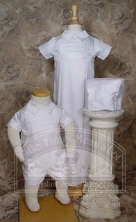 NEW Little Things Mean a lot BOYS CHRISTENING BAPTISM GOWN ROMPER 12