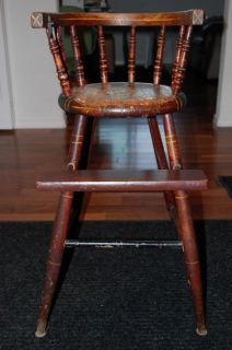 ORIGINAL MID TO LATE 19TH CENT. ANTIQUE BABY HIGH CHAIR