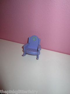 MINIATURE for a DOLL HOUSE furniture purple heart rocking chair D 3