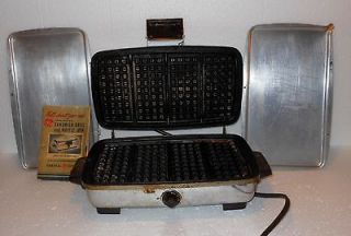 Vintage General Electric GE Combination Sandwich Grill & Waffle Iron