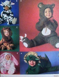 Baby Toddler ADORABLE Halloween Costume Pattern Cow Bear Lion Rabbit