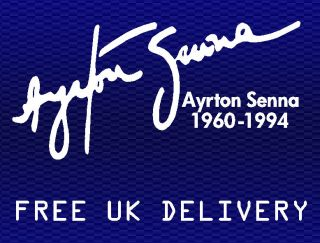 Ayrton Senna tribute autograph signature sticker decal   200mm White