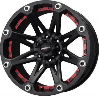 17 inch Ballistic Jester black wheels rims 8x6.5 8x165.1 +12 Silverado