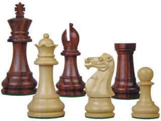 Staunton Chess Set Pieces Rosewood Monarch 3.75 Ex Qns