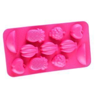FRUIT SHAPED Silicone Ice Cube Mold Maker Tray Mix Fruit Jelly Mould