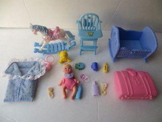 Mattel Barbie baby Krissy doll , cradle & more