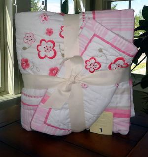 POTTERY BARN KIDS NEW BABY GIRLS SCARLETT NURSERY QUILT & SHAM SET