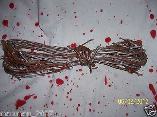 25 Faux Barbed Wire Rusty Fake Western Garland Halloween Prop