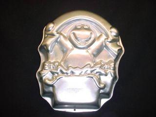 Wilton BIG BARNEY BANNER cake pan PURPLE DINOSAUR mold tin kid cartoon