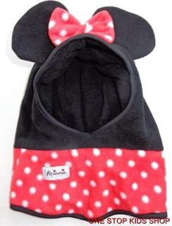 MINNIE MOUSE Toddler Girls 2T 3T 4T 5T Costume Hat SKI MASK Cap Disney