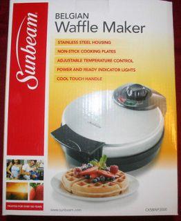SUNBEAM belgian waffle maker stainless pancakes breakfast kitchen