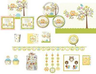 Owl Baby Shower Boy Girl Party Supply You Pick Plates Balloons Decor