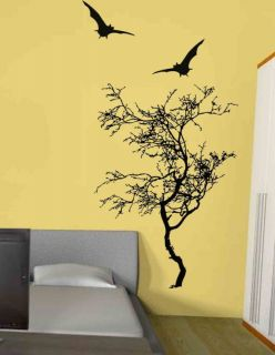 Big Tree With Bat Vinyl Wall Decal Sticker 4ft tall