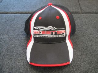 Skeeter boats black red sport mesh adjustable hat cap bass fishing