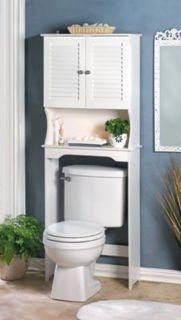New** Nantucket White Wood Bathroom Space Saver
