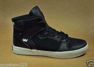 SUPRA Shoes Vaider Bally Black White Fashion Sneakers High Top Men