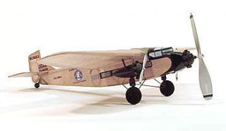 "#210 Dumas 17½"" Wingspan Balsa Wood Model Airplane Kit Rubber Pd"