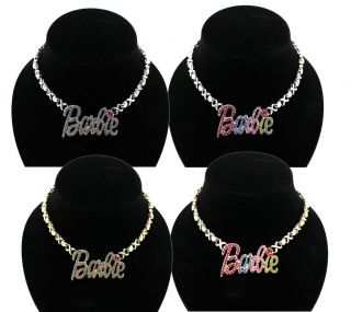 Nicki Minaj Inspired Iced Out BARBIE  Pendant Necklace XOXO Hug