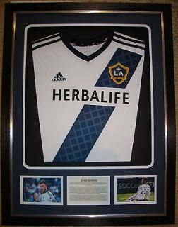 Beckham LA Galaxy Framed Shirt Display 12/13