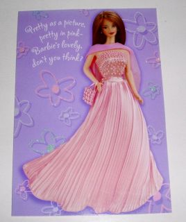 Barbie Pretty in Pink Today Youre Turning Three 3rd Birthday Card