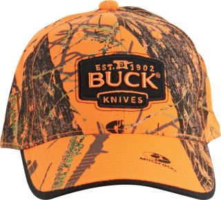 Buck Knives Mossy Oak Blaze Orange Camo Buck Logo Cap New BU89054