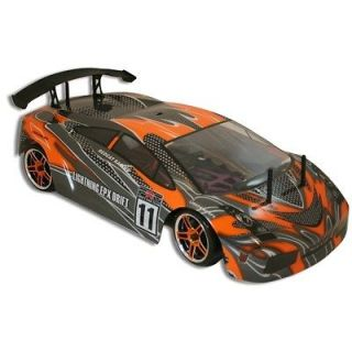 EPX 1/10 Scale Electric Brushed RC Drift Car Orange & Black AM