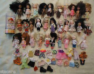 Dressed BARBIES LITTLE SISTER KELLY DOLLS, BOOTS & 1 NIB Doll   Clean