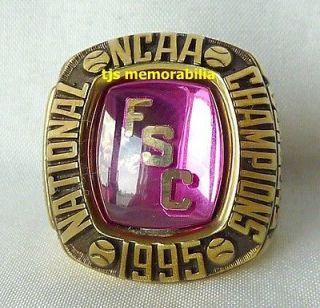 1995 FLORIDA SOUTHERN MOCCASINS NATIONAL CHAMPIONSHIP RING   BASEBALL