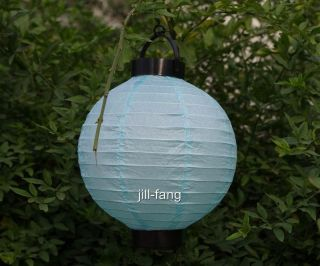 Light Blue Battery Operated Paper Lantern Wedding Party Xmas