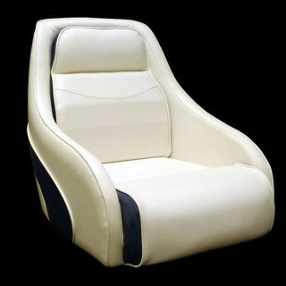 BAYLINER CAPRI OFF WHITE/NAVY BLUE BOAT BUCKET SEAT
