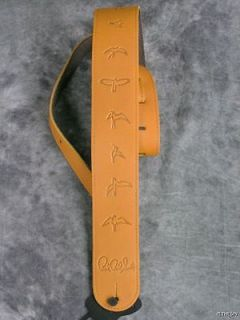 NEW PRS LEATHER BIRDS BROWN GUITAR OR BASS STRAP SOFT PAUL REED SMITH