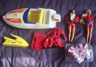 Baywatch Barbie   Powerboat, Jet Ski, Dolls & Accessories