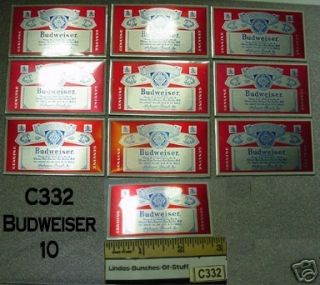 10 Budweiser Beer Aluminum Signs / Plaques NEW C332