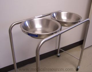 Blickman Stainless Steel Double Basin Solution Stand