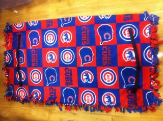 Cubs Golf Cart Seat Cover Handmade of Fleece with Elastic Straps for