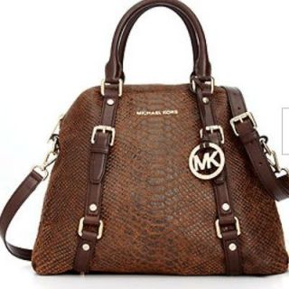 NWT Michael Kors Bedford Large Bowling Satchel Mocha Brown Handbag $