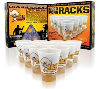 Beer Pong Rack Kit, Flip Cup, Includes Cups, Ping Pong Balls, Rack