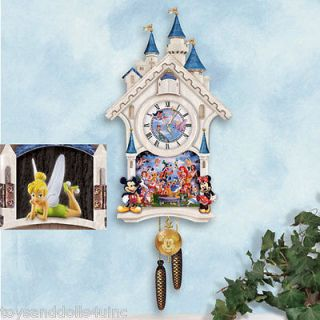 ULTIMATE DISNEY CUCKOO CLOCK W/ Tinkerbell wooden clock Mickey mouse +