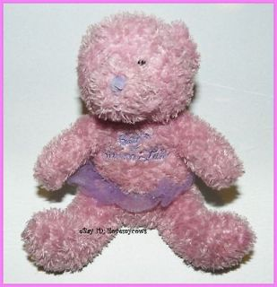 Barbie of Swan Lake Pink Teddy Bear Plush Beanie with Tutu 6 Stuffed