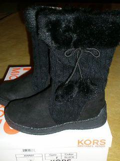 Michael Kors Girls Kids Lil Abbi Winter Boots Black Multiple Sizes