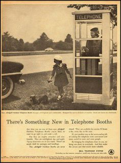 ad for Bell Telephone Systems, New Outdoor Phone Booth  021113