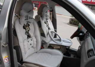 Minnie Mouse Auto Car Front Rear Seat Cover Ice Silk 8p