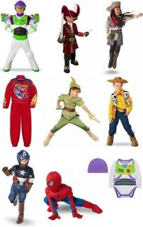 Boys Character Halloween Costumes NWT